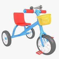 tricycle bicycle trike 3D model