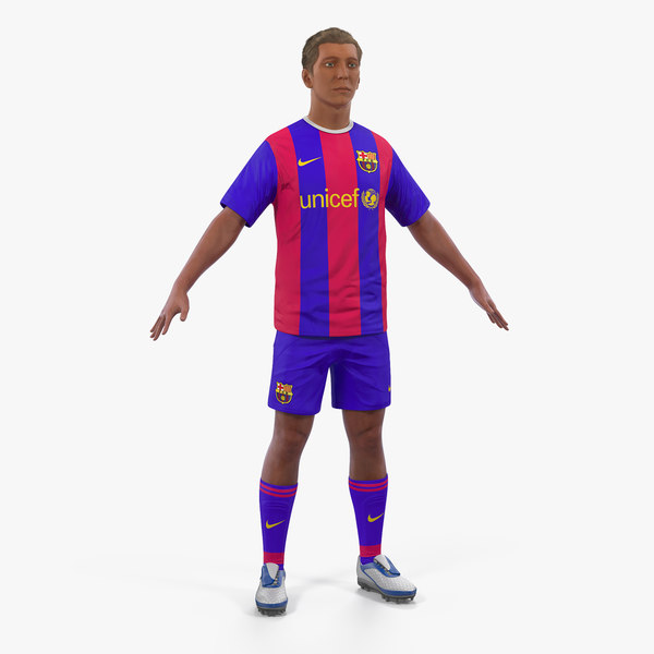 soccer football player barcelona 3D model