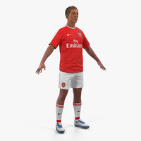 soccer football player arsenal 3D