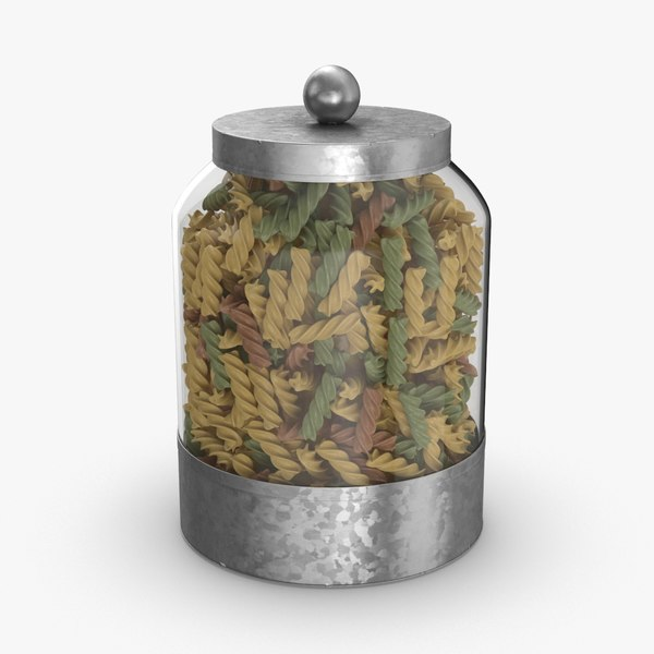 3D glass food canisters -