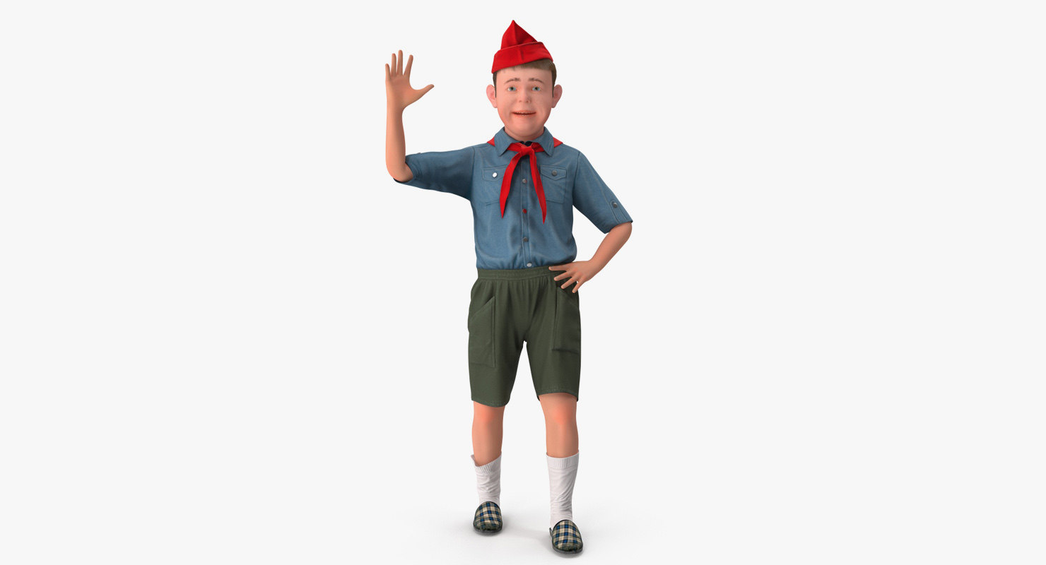 realistic boy scout rigged model