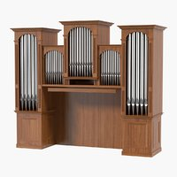 organ pipes 3D model