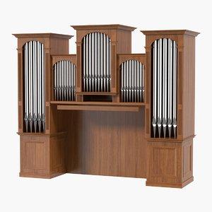 organ pipes 3D model