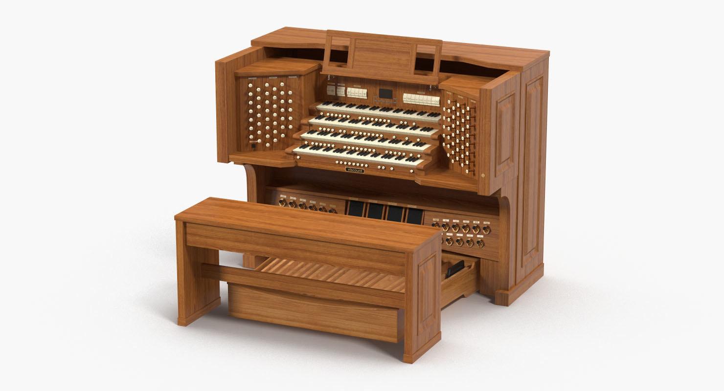 organ piano 3D model
