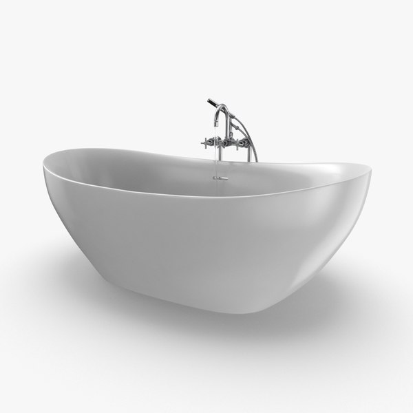 3D modern bathtub - faucet model