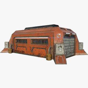 scifi war factory building 3D