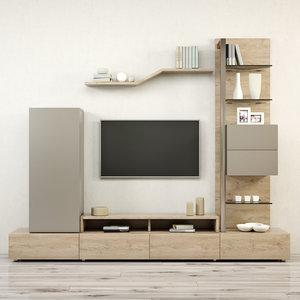 tv stand furniture gautier 3D model