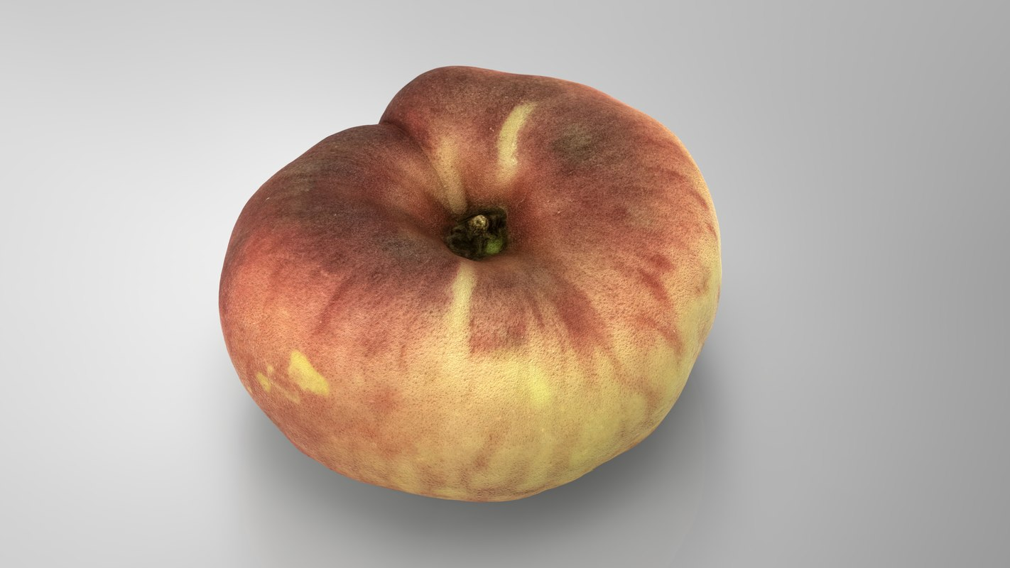 3D model saturn peach