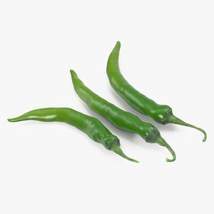 green chili pepper 3D model