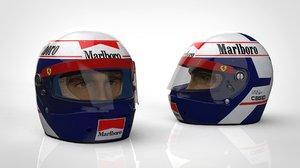 3D alain prost helmet