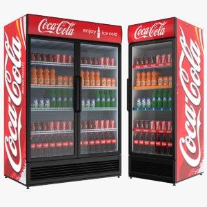 single double coca cola 3D model