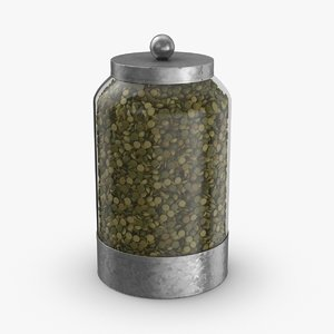 3D glass food canisters - model