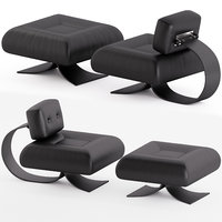 Alta Chair and Ottoman by Os car Niemeyer