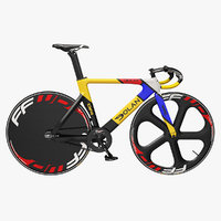 Dolan DF4 Carbon Track Bike Colored Rigged