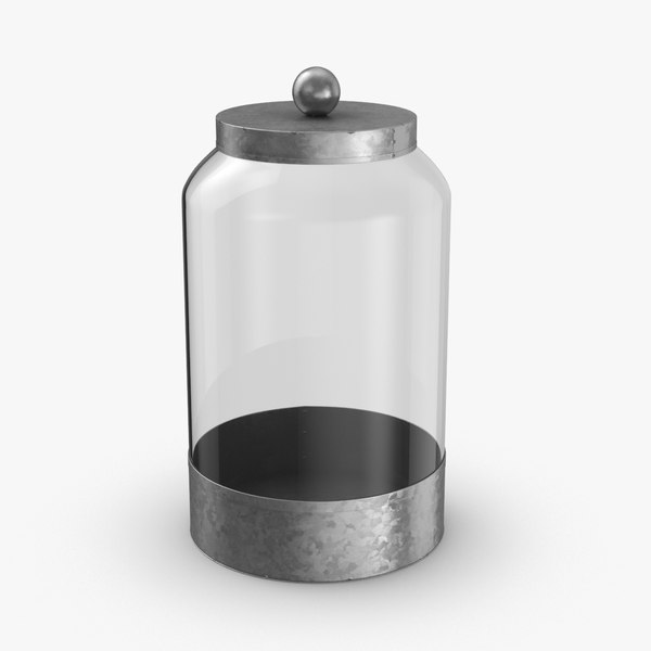 glass food canisters - 3D model