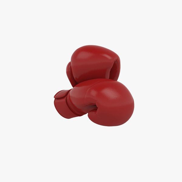 3D boxing gloves model