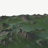 landscape land scape 3D model