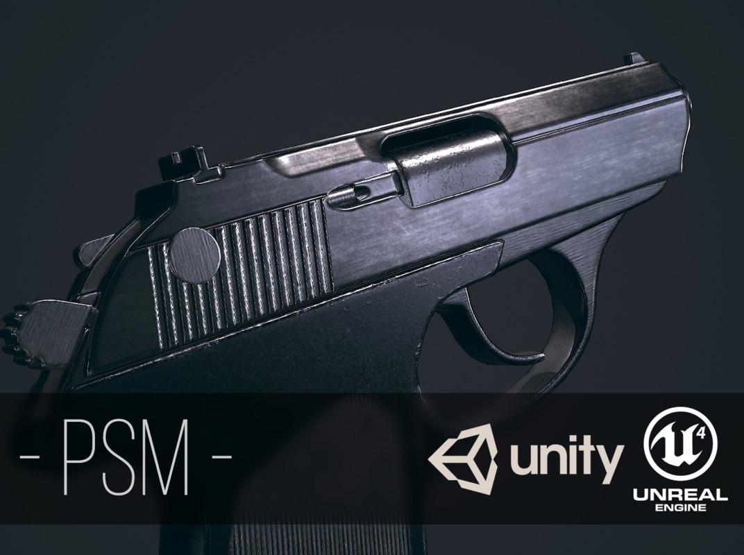 3D model soviet psm pistol