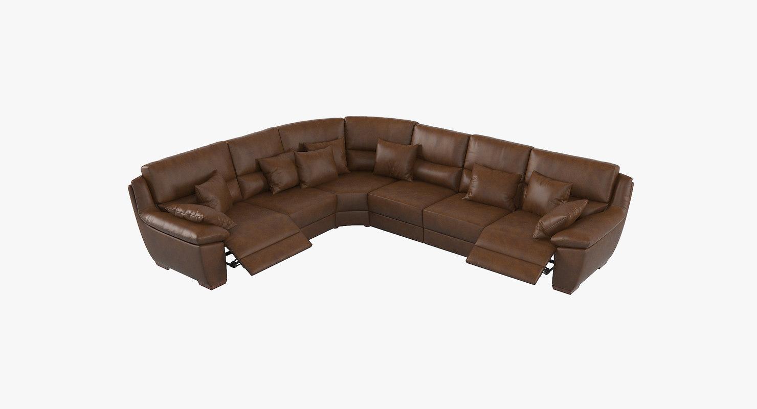 3D amikamoda patti sofa