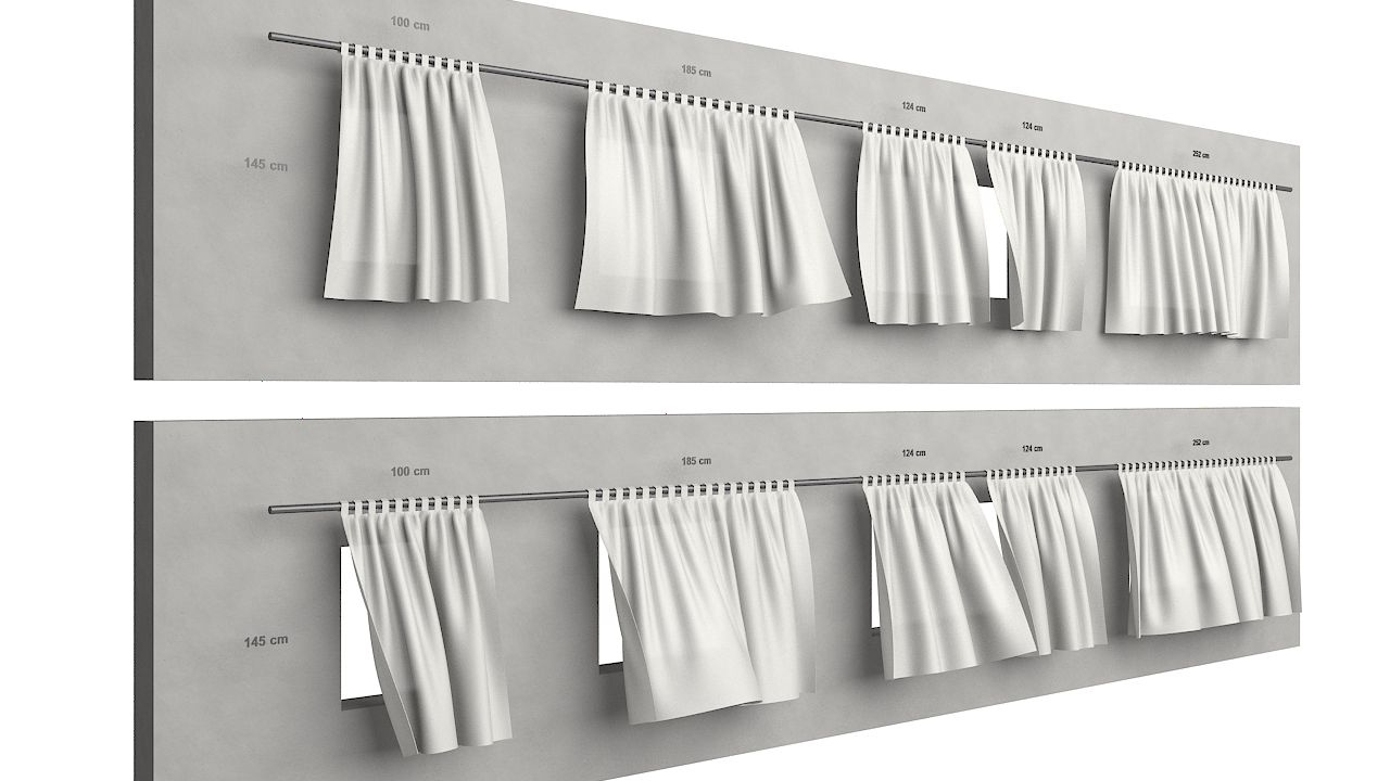 curtains animation 3D model