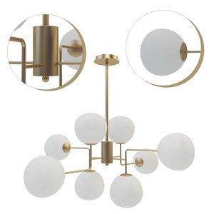 3D suspended chandelier maytoni erich