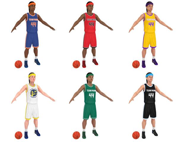 3D pack female basketball player