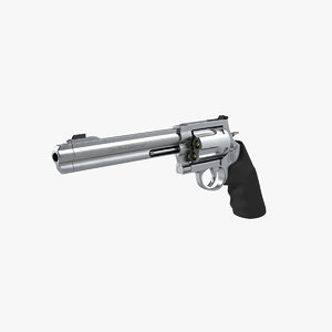 revolver smith wesson 500 3D model