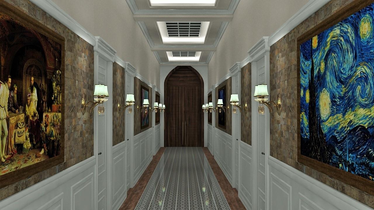classic corridor 3D model