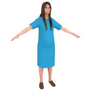 pregnant woman model