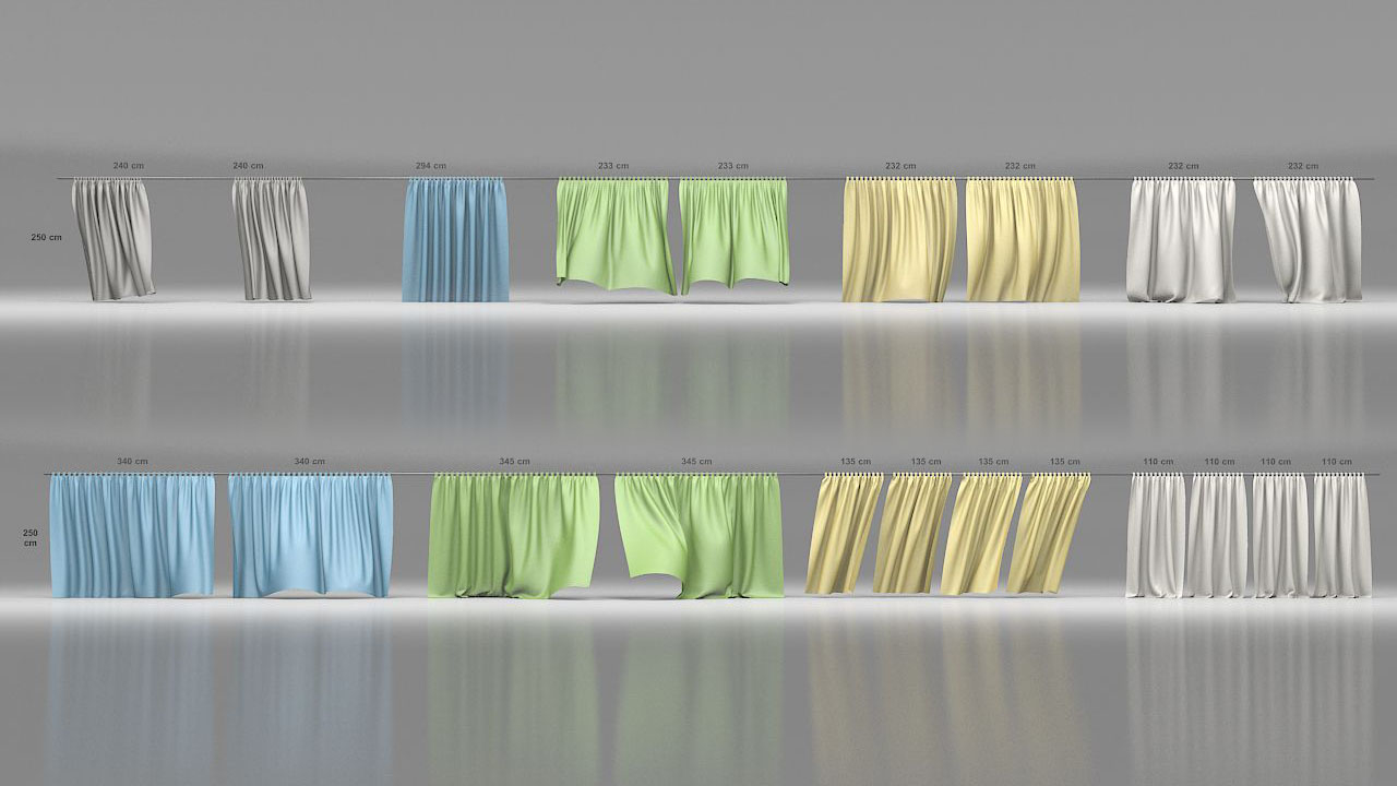 3D curtains animation