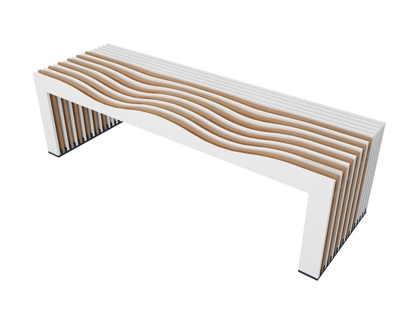 modern airport seating 3D