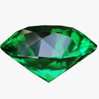 green emerald pure 3D model