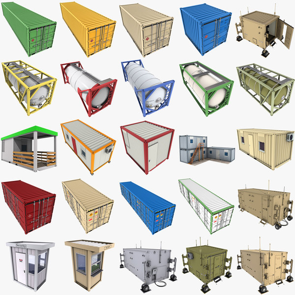 containers iso cargo 3D model