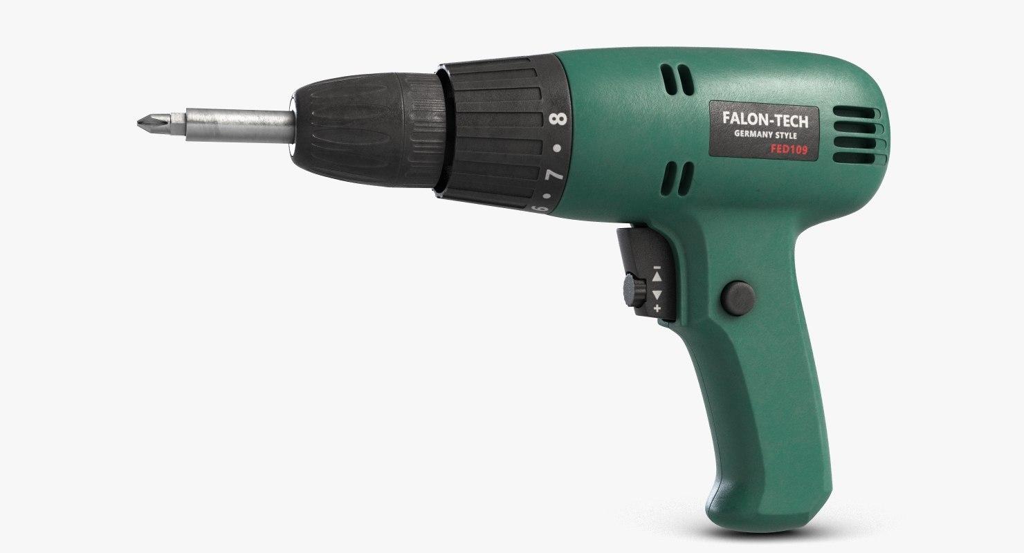 electric screwdriver falon tech 3D model