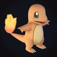 3D charmander pokemon model