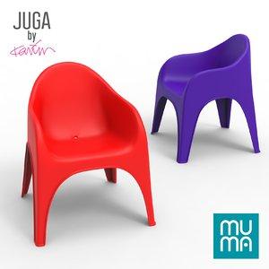 juga chair karim rashid 3D model