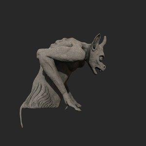 3D gargoyle sculpture statue