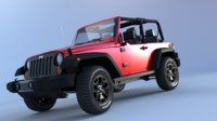3D jeep wrangler model