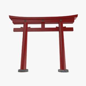 3D gate pbr model