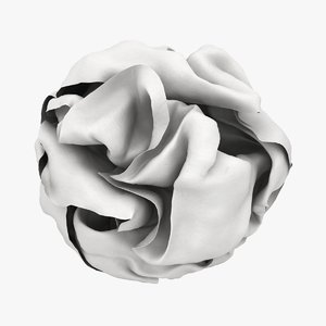crumpled paper ball white 3D model