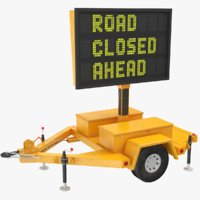 3D electronic road sign model