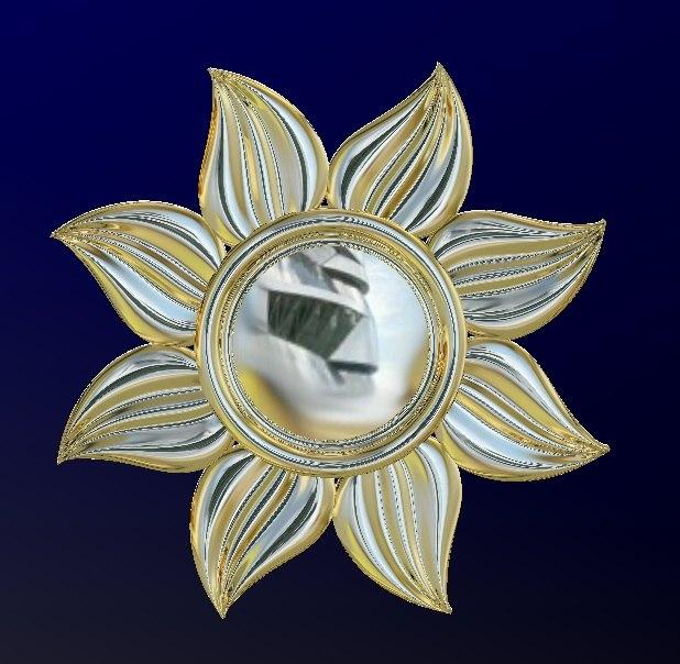 sun pendant 3D model