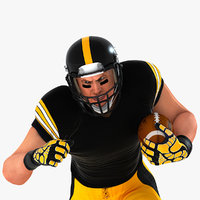 White American Football Player HQ 003