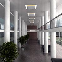 modern hall 3D model