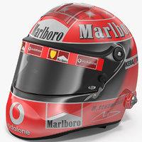3D helmet michael schumacher 2002 model