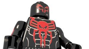 3D model lego spiderman 2099