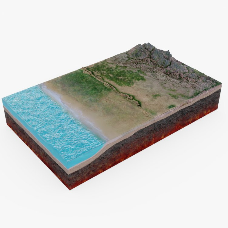 3D tectonic plates