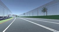 race track formula 1 3D model