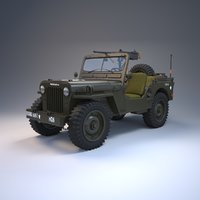 3D gun runner 1950 willys model