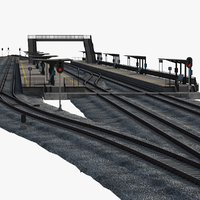 railway constructor station rail model